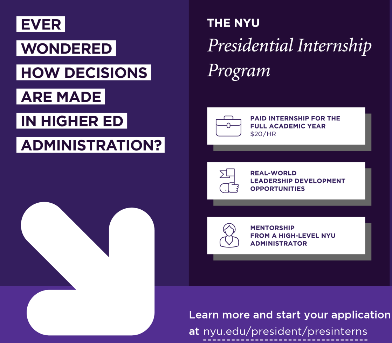 NYU Presidential Intern Spotlight – NYU Wasserman